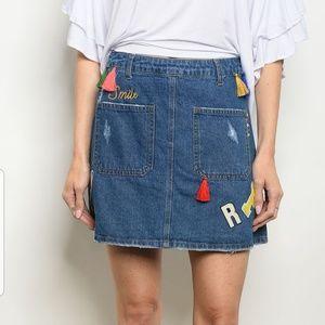 Dresses & Skirts - Smile denim skirt